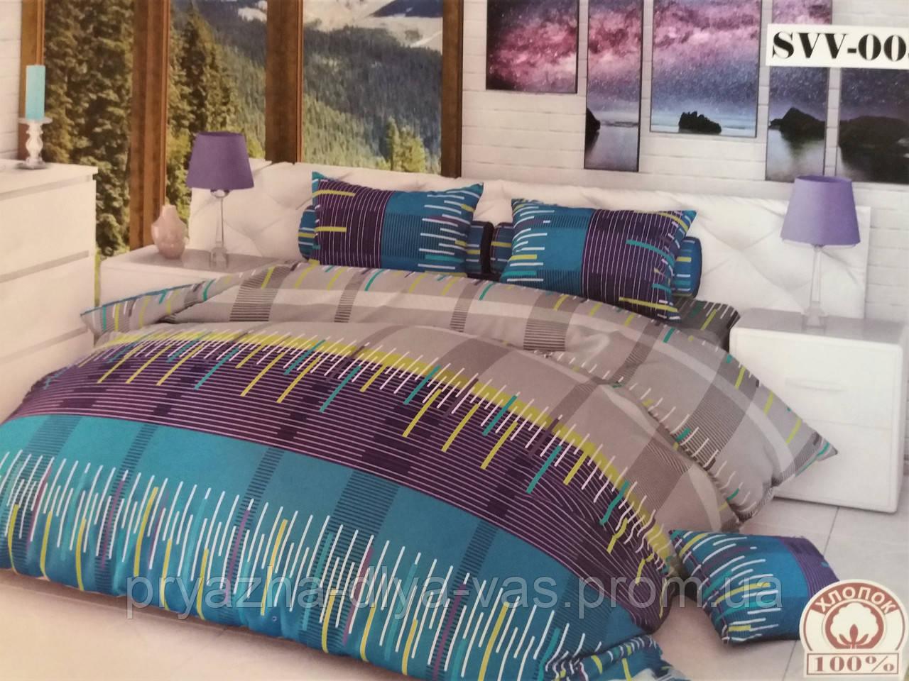 Комплект постельного белья Тиротекс Бязь Ритмы Полуторный 144х215