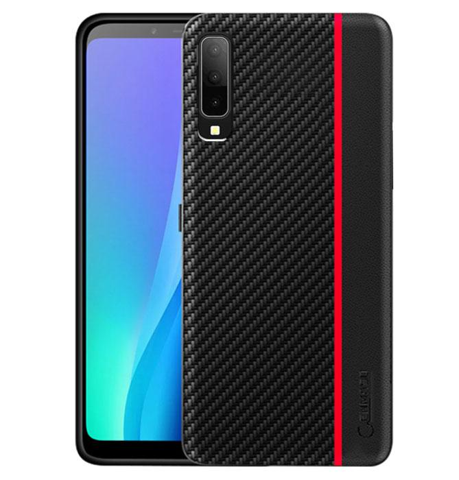 Чохол накладка Primo Cenmaso для Samsung Galaxy A7 2018 ( SM-A750 ) - Black&Red