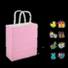 Бумажный Пакет Розовый с ручкой 200*80*240мм (Ш.Г.В) Пл 100г (1189)