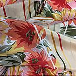Мимолетное виденье 1407-1, павлопосадский шейный платок (крепдешин) шелковый с подрубкой, фото 4