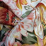 Мимолетное виденье 1407-1, павлопосадский шейный платок (крепдешин) шелковый с подрубкой, фото 7