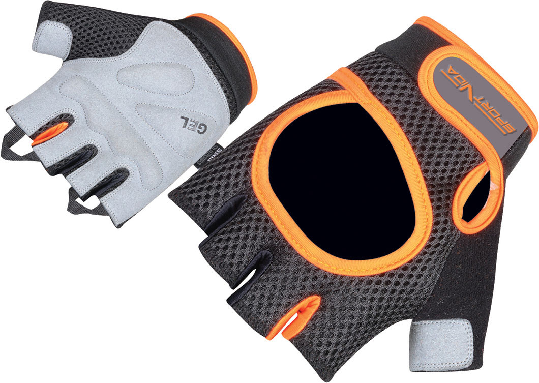 Перчатки для фитнеса SportVida SV-AG00022 (S) Black/Orange