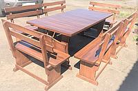 Деревянный стол из березы 2000*1000 + 6 лавок