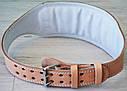 Пояс для тяжелой атлетики кожаный SportVida SV-AG0056 (XXL) Beige, фото 8