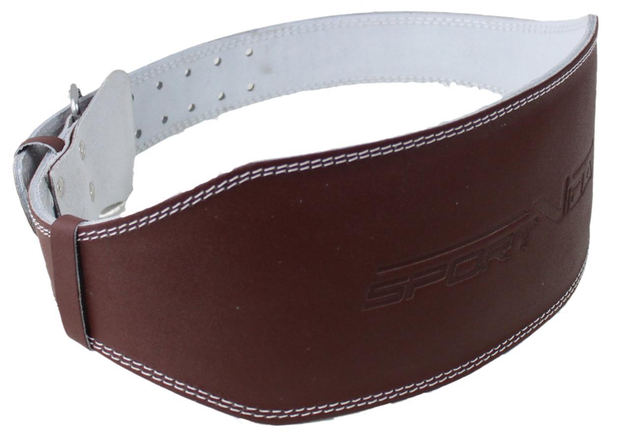 Пояс для тяжелой атлетики с экокожи SportVida SV-AG0060 (S) Braun