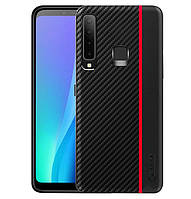 Чехол накладка Primo Cenmaso для Samsung Galaxy A9 2018 ( SM-A950 ) - Black&Red, фото 1
