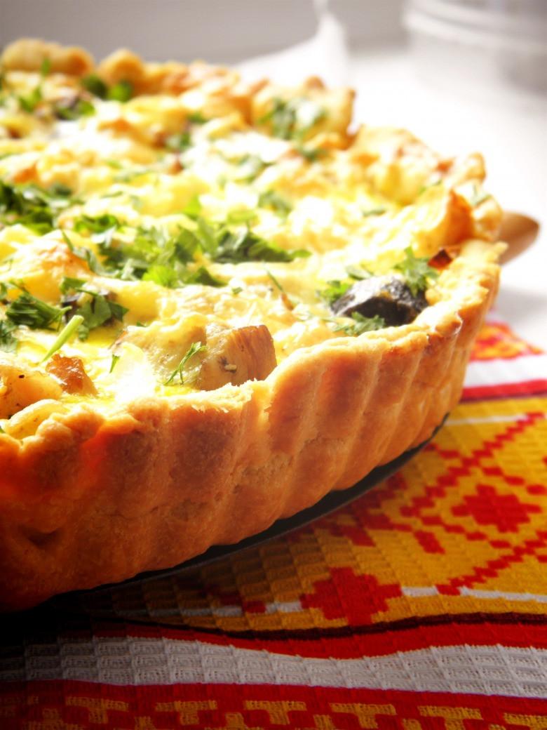 Пирог Киш Овощной с брынзой ( целый)