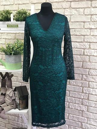 """Нарядное кружевное женское платье """"Гипюр на подкладке """" 46 размер батал, фото 2"""
