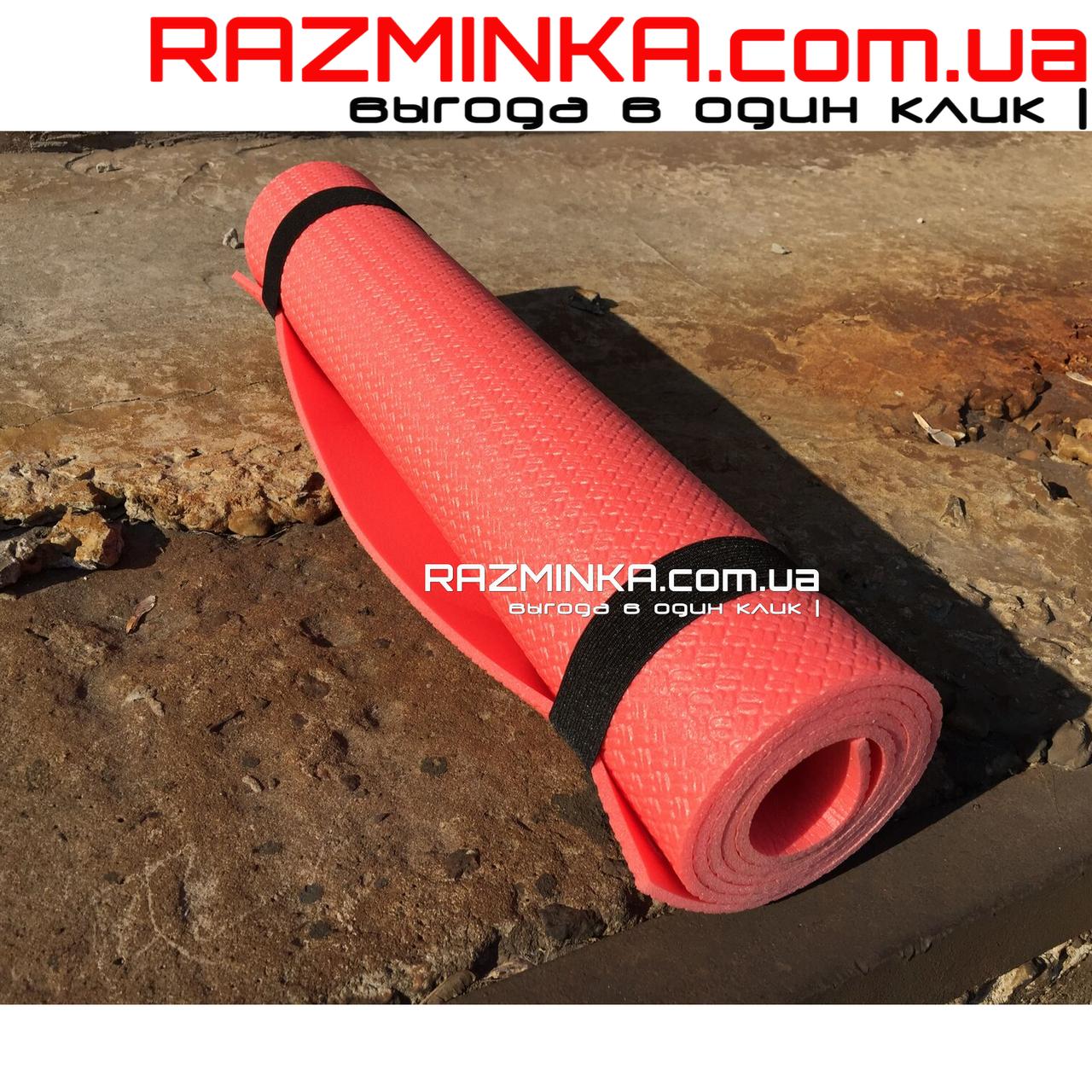 Коврик для фитнеса детский 1400х500х5мм, красный