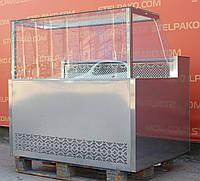 Холодильна вітрина «Айстермо Куб ВХСК Пальміра» 1.3 м. (Україна), дата виготовлення - 2018 рік, Б/в, фото 1