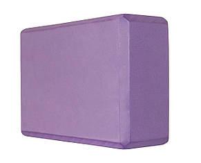 Блок для йоги SportVida SV-HK0152 Violet