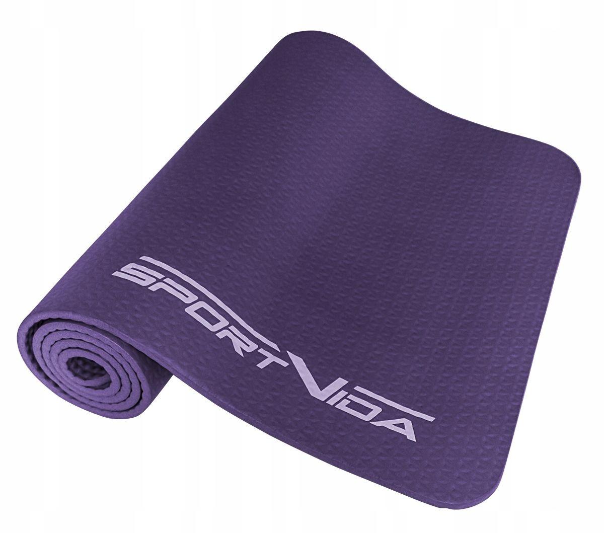 Коврик (мат) для йоги и фитнеса текстурированный SportVida NBR 1 см SV-HK0071 Violet