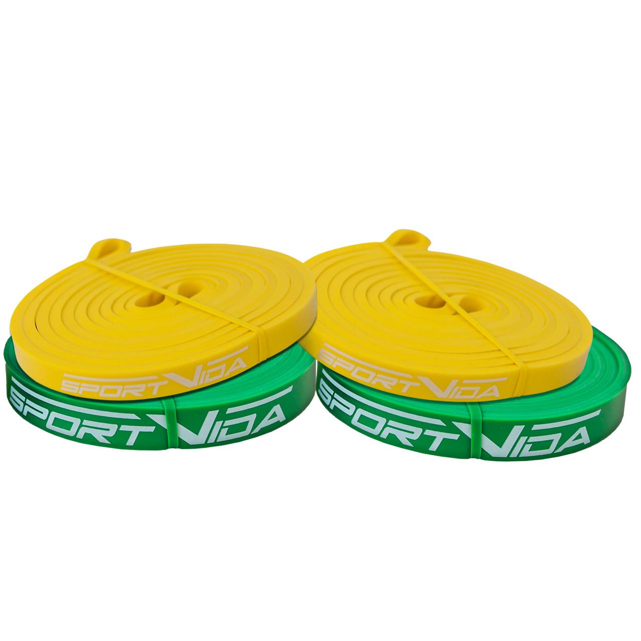 Эспандер-ленточный (резинка для фитнеса и спорта) SportVida Power Band 4 шт 0-12 кг SV-HK004-34