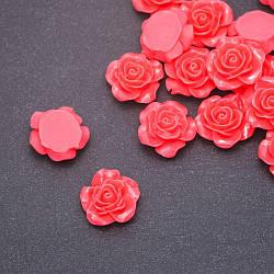 Кабошон Роза лососевая акрил, диаметр 18мм фас.17 шт.