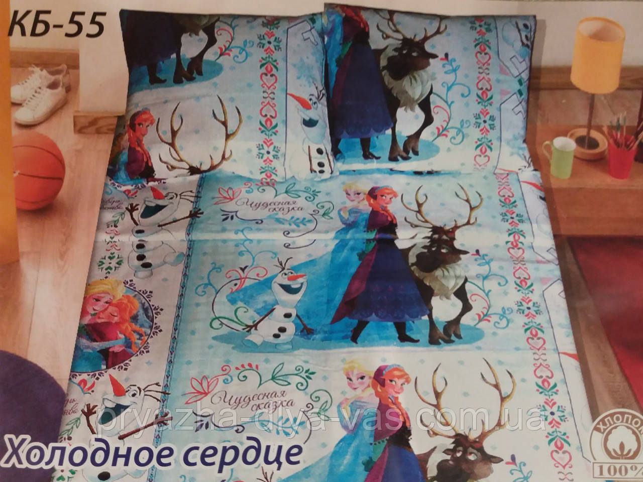 Комплект постельного белья Тиротекс Бязь Холодное сердце1 Полуторный 144х215
