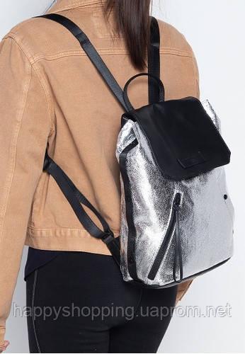 Женский стильный серебристый рюкзак Kendall +Kylie