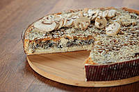 Пирог Киш Картофель сыр грибы ( целый )
