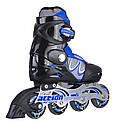 Роликовые коньки Nils Extreme PW-130C Size 32-35 Blue, фото 4