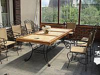 Набор кованой мебели для террасы