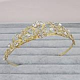 Корона, диадема, тиара под золото, высота 3,5 см., фото 5