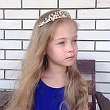 Корона, диадема, тиара под золото, высота 3,5 см., фото 6