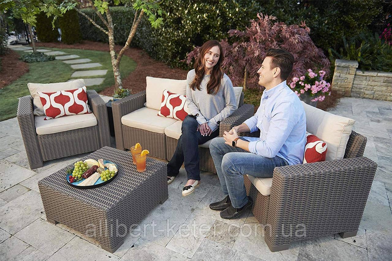 Набор садовой мебели California 2 Seater Set из искусственного ротанга