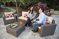 Набор садовой мебели California 2 Seater Set из искусственного ротанга, фото 1