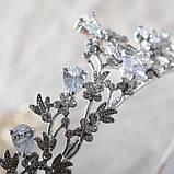 Корона, диадема, тиара под серебро, высота 3,5 см., фото 3