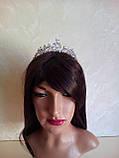 Корона, диадема, тиара под серебро, высота 3,5 см., фото 5
