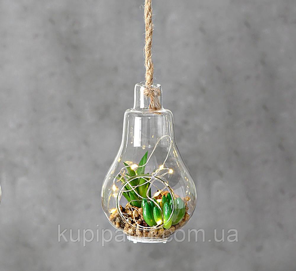 Светодиодная лампа ночник с  LED установкой стекло h12см 1005915