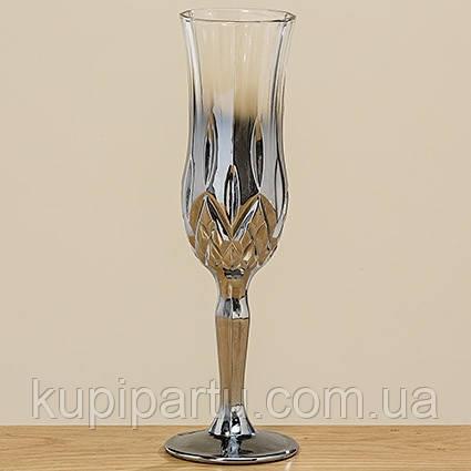Бокал для шампанского Медисон серебряное стекло h21см Гранд Презент 1008754