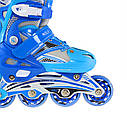 Роликовые коньки Nils Extreme NA0326A Size 34-37 Blue, фото 2