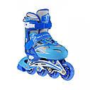 Роликовые коньки Nils Extreme NA0326A Size 34-37 Blue, фото 10