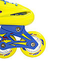 Роликовые коньки Nils Extreme NJ1905A Size 31-34 Yellow, фото 6