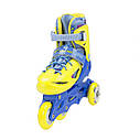 Роликовые коньки Nils Extreme NJ1905A Size 35-38 Yellow, фото 6