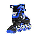 Роликовые коньки Nils Extreme NA0328A Size 34-37 Black/Blue, фото 2