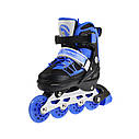 Роликовые коньки Nils Extreme NA0328A Size 34-37 Black/Blue, фото 4