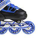 Роликовые коньки Nils Extreme NA0328A Size 34-37 Black/Blue, фото 7