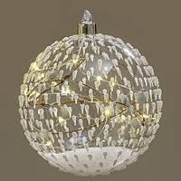Led ночник шар прозрачное стекло d12см 1008776