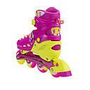 Роликовые коньки Nils Extreme NA1005A Size 31-34 Pink, фото 3