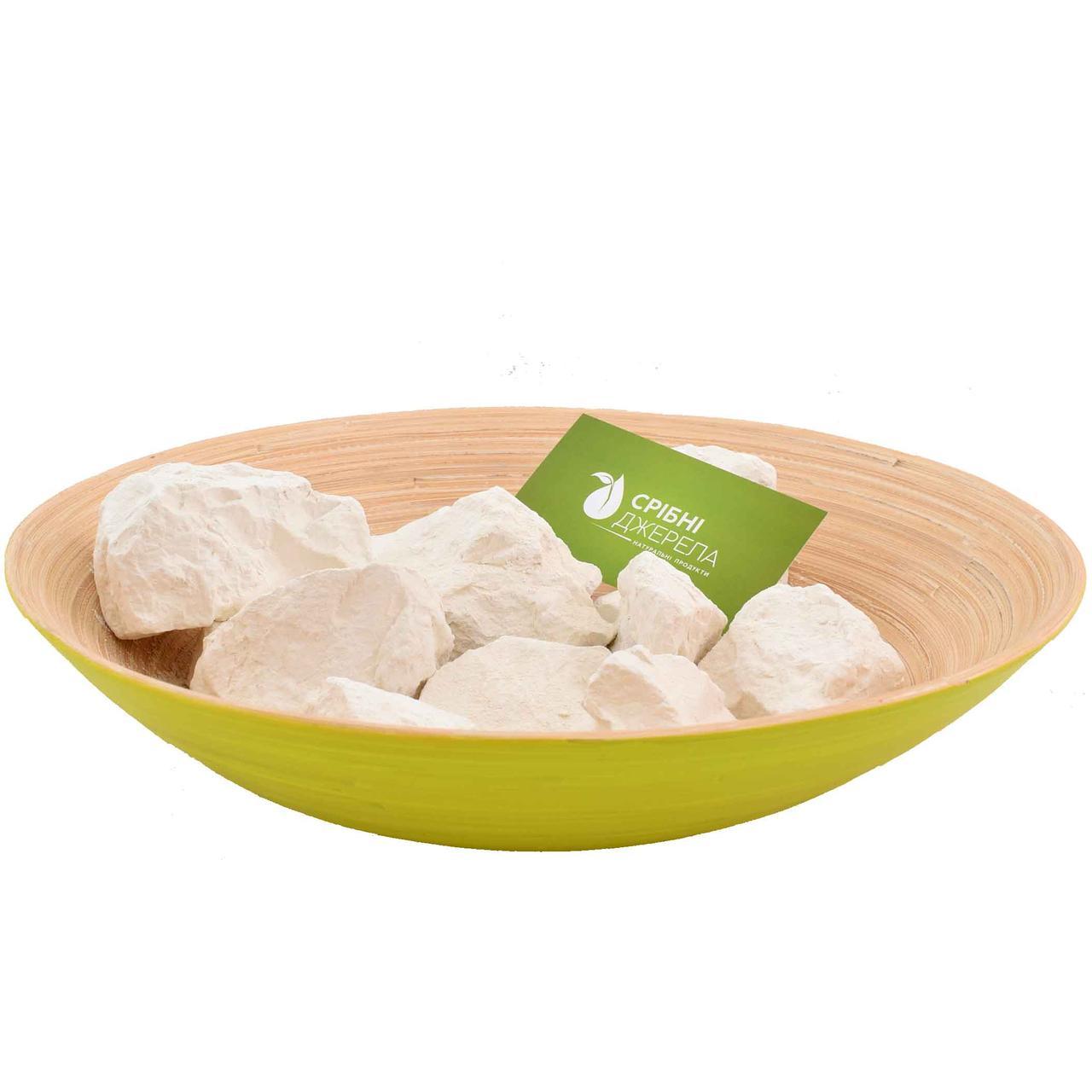 Харчова кускова Біла глина (100% натуральна), без домішок, 1000 г