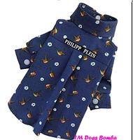 Рубашка для собак синяя Philipp Plein