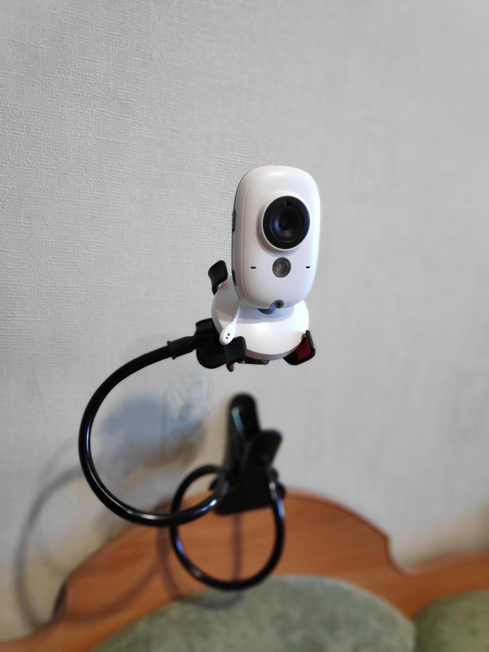 Тримач з гнучкою ніжкою для кріплення камери відеоняні на бортик дитячого ліжечка