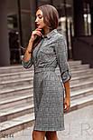 Шерстяное платье в деловом стиле в клетку, фото 2