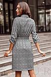 Шерстяное платье в деловом стиле в клетку, фото 4