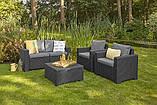 Набор садовой мебели California 2 Seater Set Graphite ( графит ) из искусственного ротанга (Allibert by Keter), фото 7