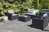 Набор садовой мебели California 2 Seater Set Graphite ( графит ) из искусственного ротанга (Allibert by Keter), фото 10