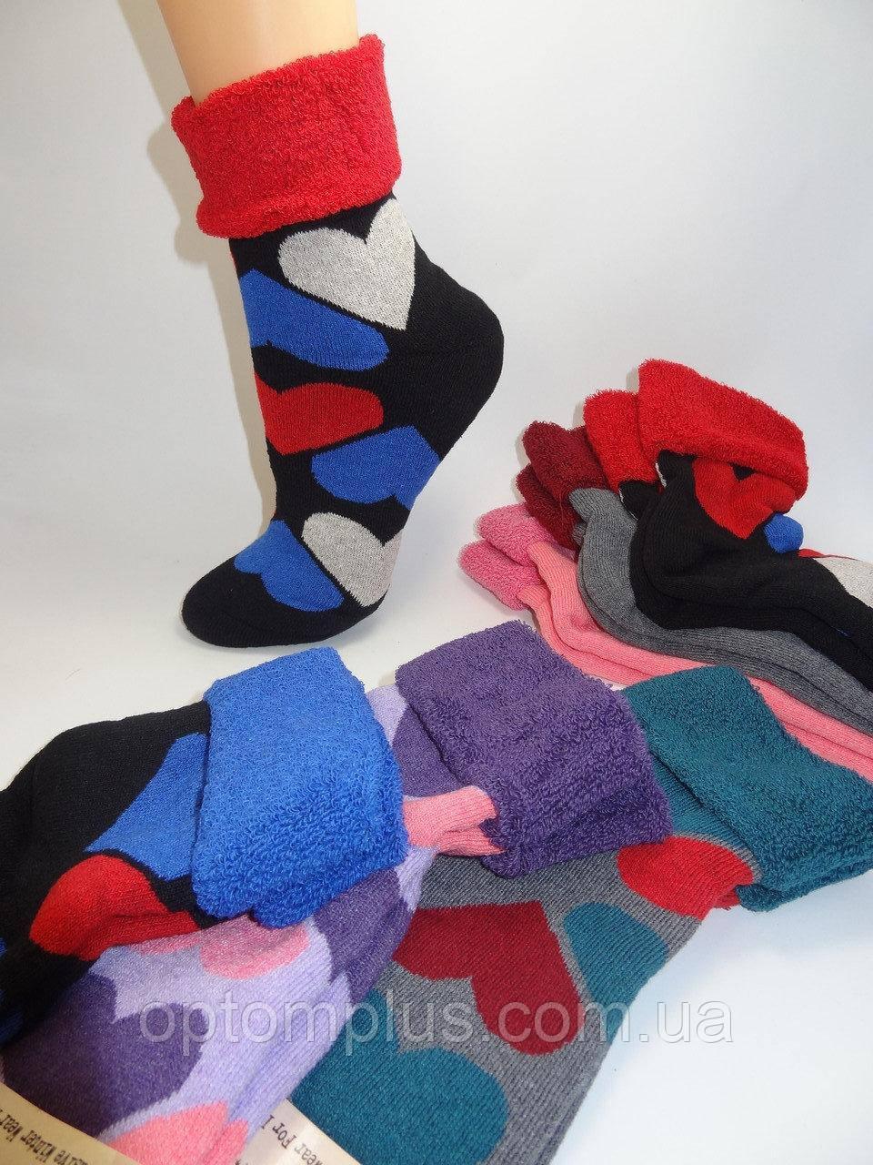 Шкарпетки жіночі з декоративним відворотом зима (23-25 р) Туреччина купити оптом від складу 7 км