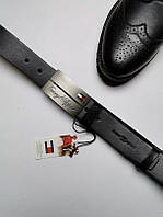Мужской кожаный ремень Tommy Hilfiger (Реплика)