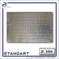 """Виброизоляция """"Cтандарт"""", 2 мм, 500х600 мм, фольга 50 мкм"""